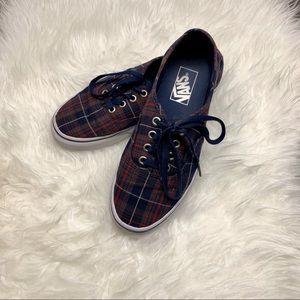 VANS Tartan plaid skateboarding sneakers shoes